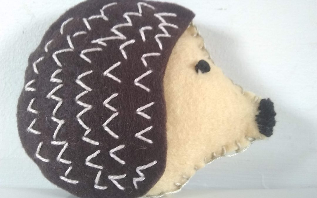 Spiny creatures coming out of hibernation – paper and felt versions