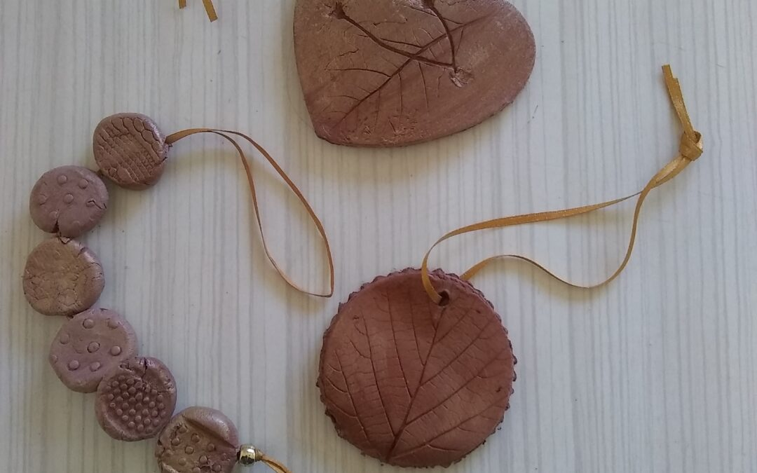 Making impressions with air-drying clay