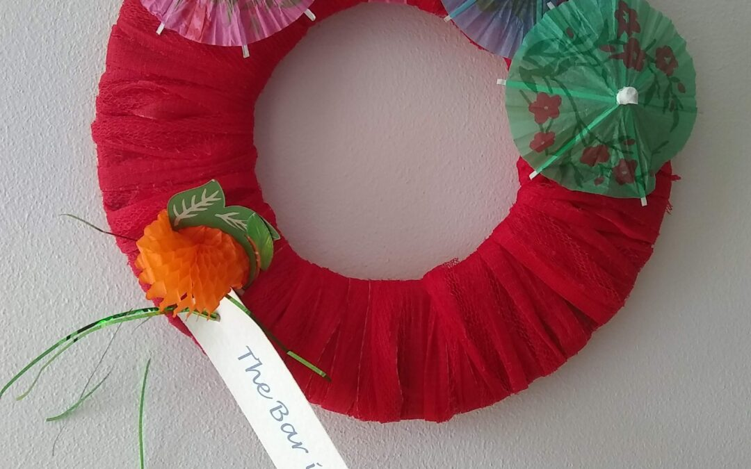 Party decorations and hydrating mocktails